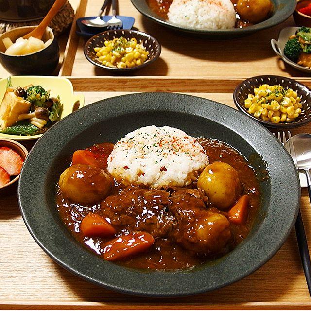 スパイスカレーの本格的なレシピ☆鶏・豚・牛4