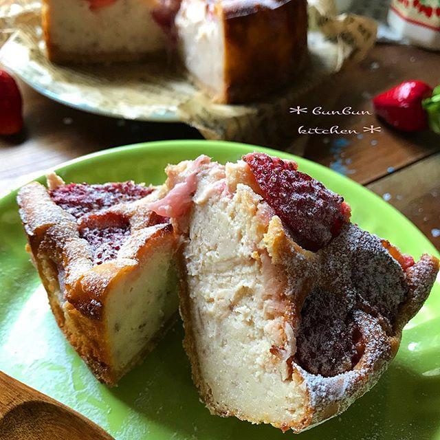 アレンジレシピ!イチゴの手作りチーズケーキ