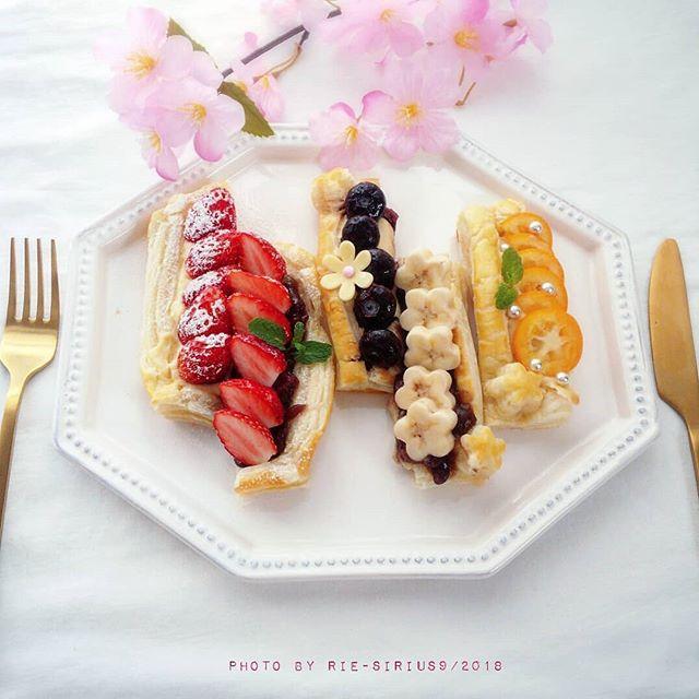 可愛いお菓子!フルーツのオープンパイ