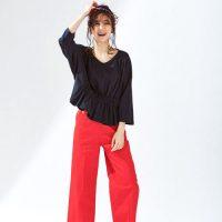 赤ワイドパンツコーデ特集【2020最新】大人女性の上手な着こなし方は?