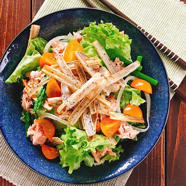 野菜嫌いのレシピに!具沢山の栄養満点サラダ