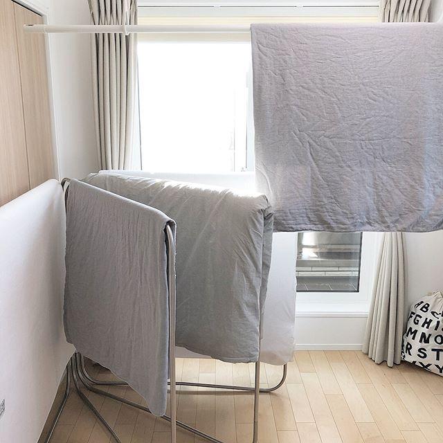 ステンレス製の布団干しを使う方法