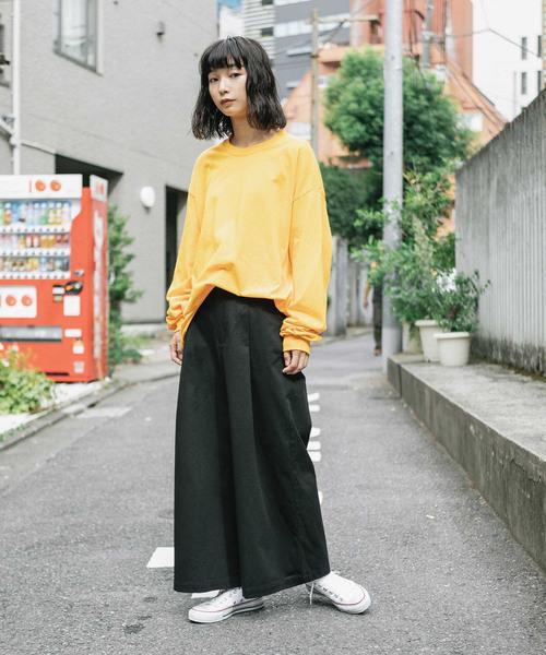 [ROOP TOKYO] 【GILDAN】ギルダン ロングスリーブ ビッグシルエット 無地 ロンT/長袖Tシャツ