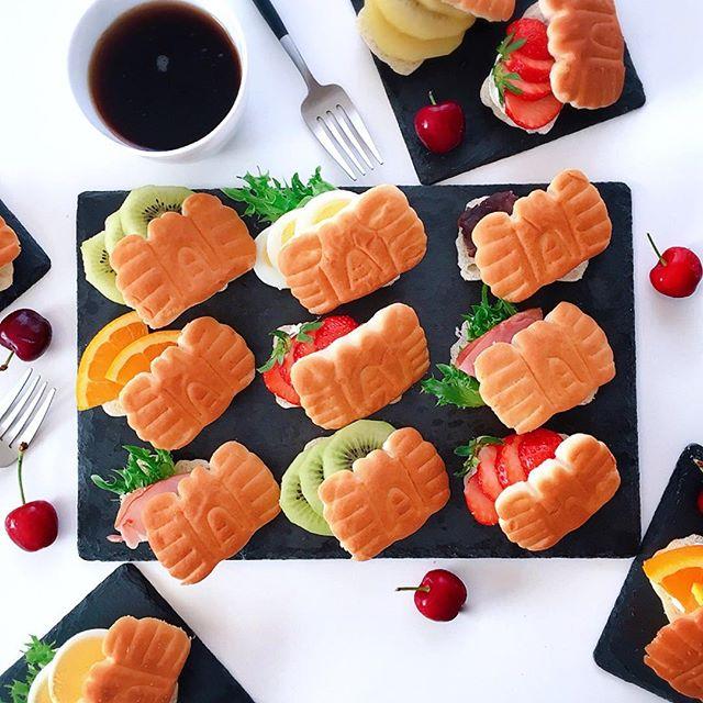 簡単な作り方!ちびかにぱんのフルーツサンド