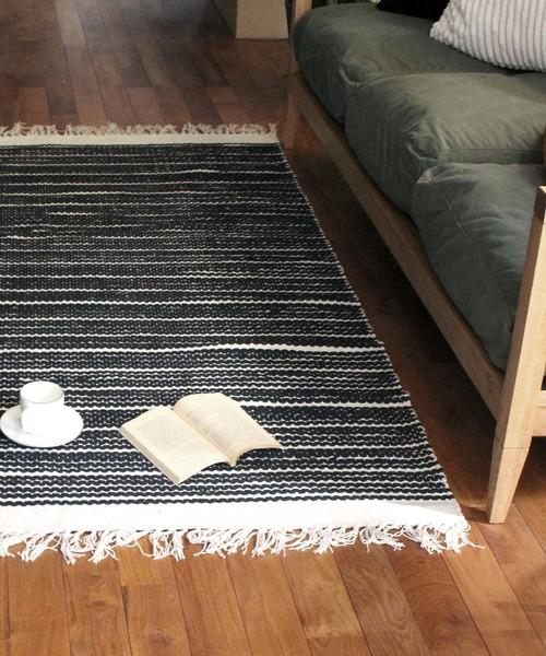 [a.depeche] cotton rug 2155 square / ラグ 2畳用