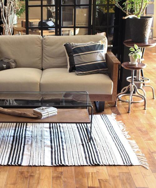 [a.depeche] cotton rug 2154 rectangle / リビング マット