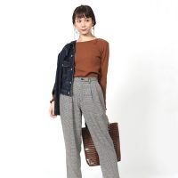 チェック柄パンツの秋コーデ【2020】大人女性のおしゃれ上手な着こなし方は?