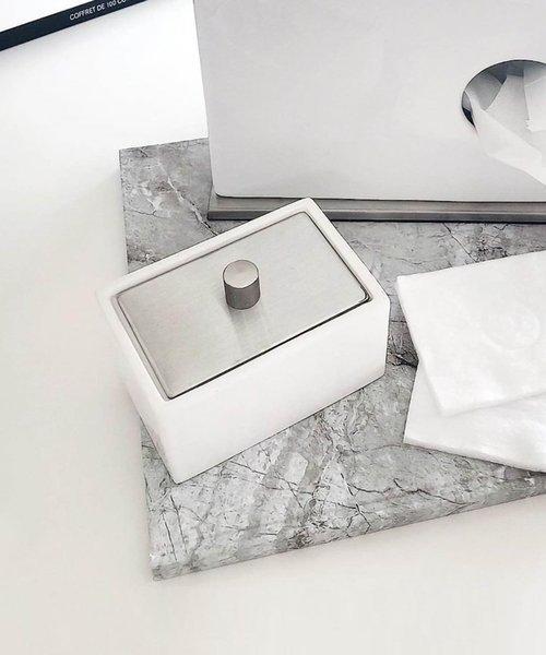 [sarasa design store] b2c セラミック コットンボックス(ロウ)