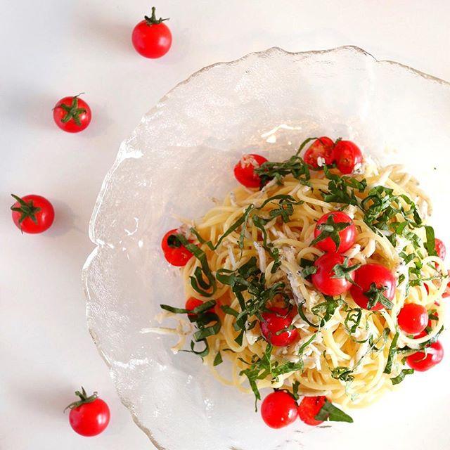簡単レシピ!ミニトマトとしらすの冷製パスタ