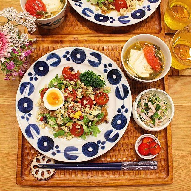 豚肉とセロリとトマトの南蛮風サラダ