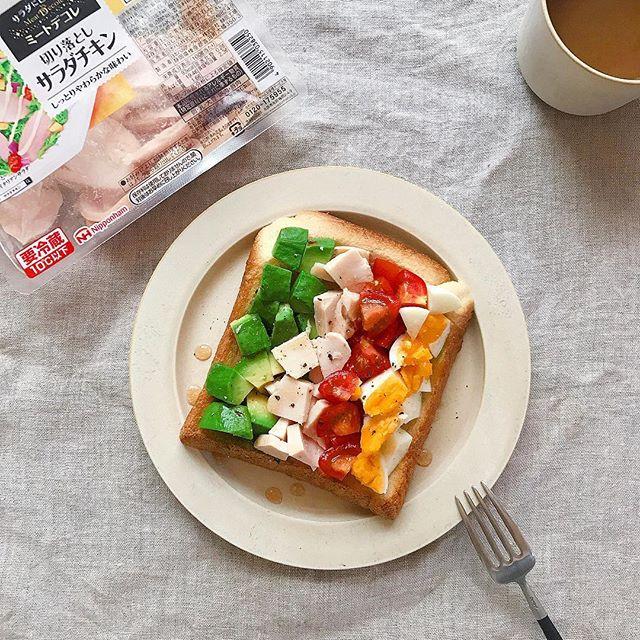 簡単アレンジレシピ!サラダチキントースト