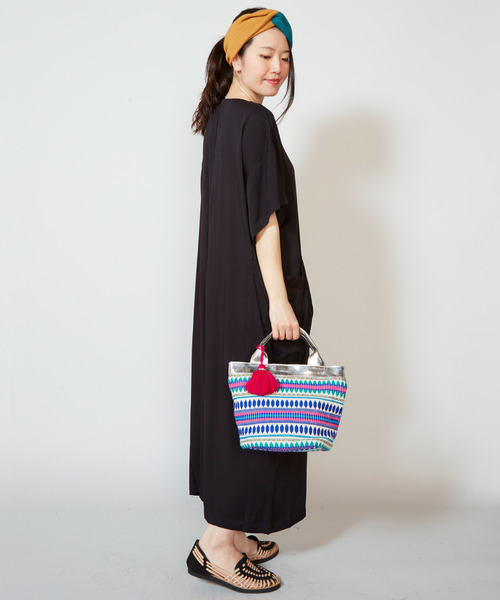 [チャイハネ] 【チャイハネ】キラ織りミニトートバッグ