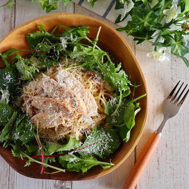 美味しいレシピ!サラダチキンのさっぱりパスタ