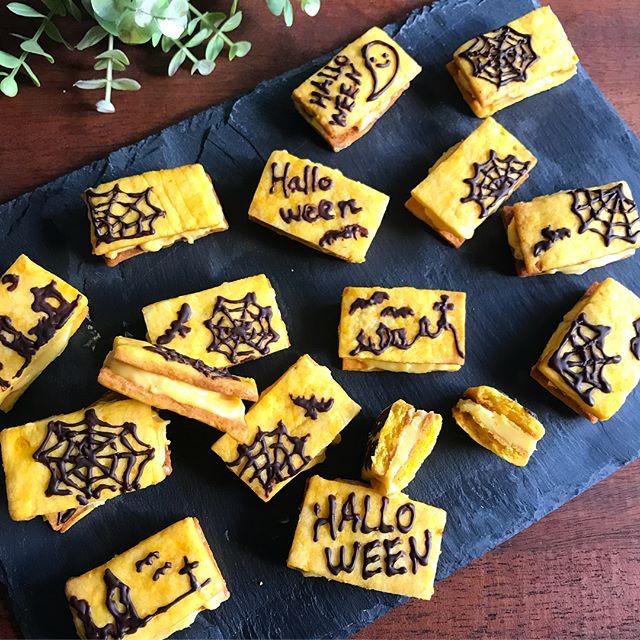 可愛いスイーツ!かぼちゃのバターサンド