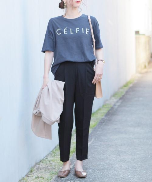 "[reca] 半袖ロゴTシャツ ""CELFIE"""