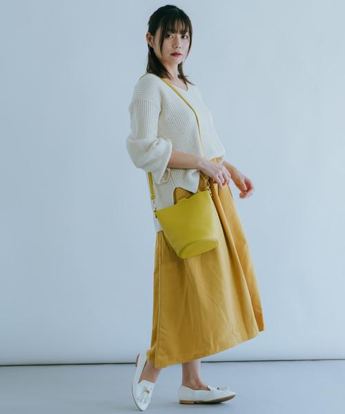 [itowa tokyo&wordtrobe] 【wordtrobe】ピーチ起毛アシンメトリースカート