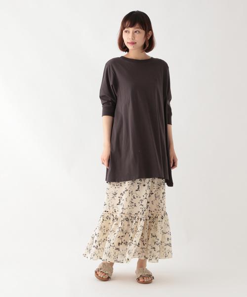 [studio CLIP] フラワープリントアソートスカート