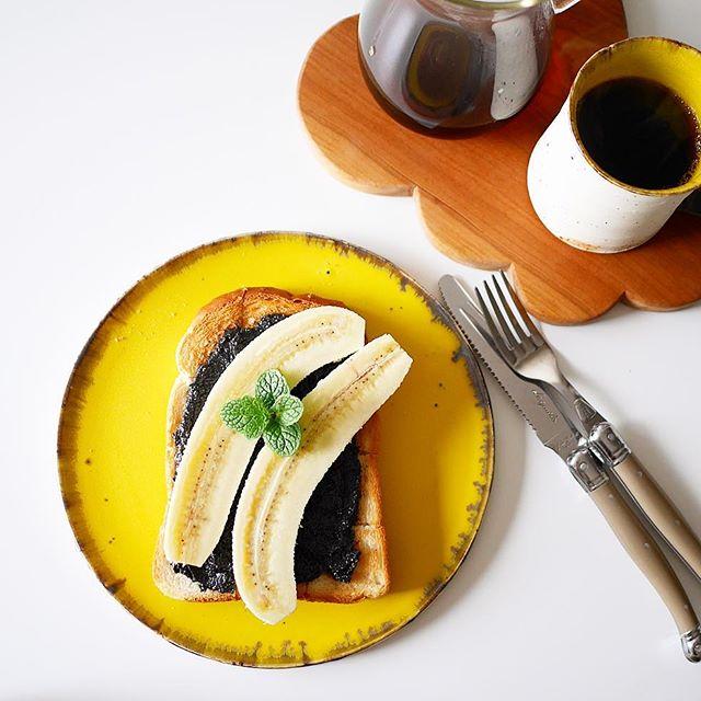 人気のアレンジレシピ!黒胡麻バナナトースト