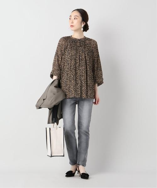 [IENA] LUNE Pleated leopard Blouse◆