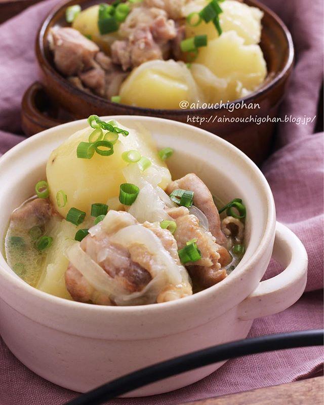 簡単で美味しい料理!塩バター鶏じゃが