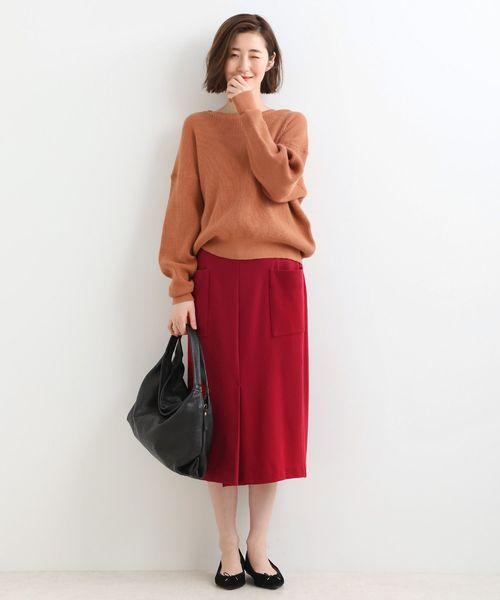 [LA MARINE FRANCAISE] ストレッチポンチタイトスカート