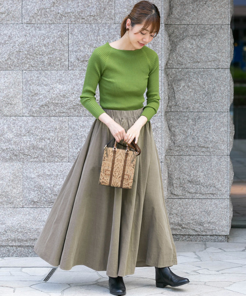[URBAN RESEARCH] 細コールマキシフレアスカート