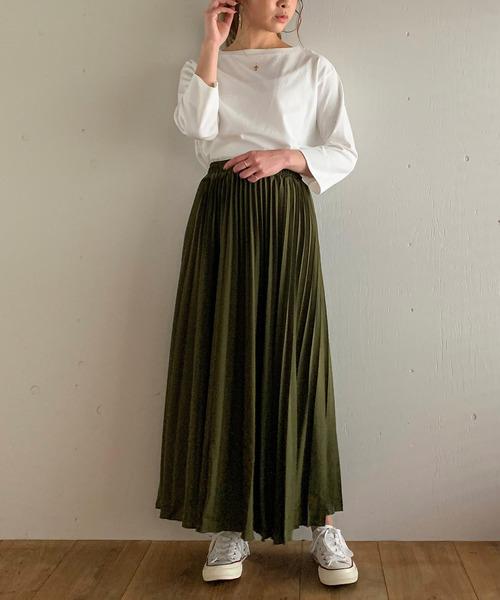 [JUNOAH] プリーツロングスカート