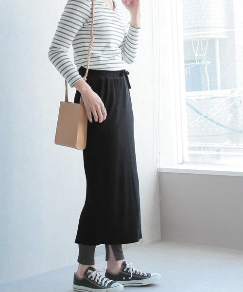 [reca] 【zozo限定】レギンスセット スリット入りタイトスカート