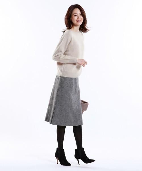 [SANYO SELECT] ウールヘリンボンツイードスカート