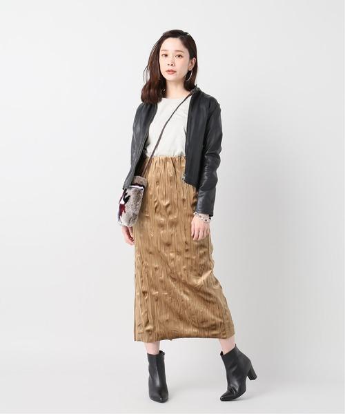 [JOURNAL STANDARD] ワッシャープリーツスカート