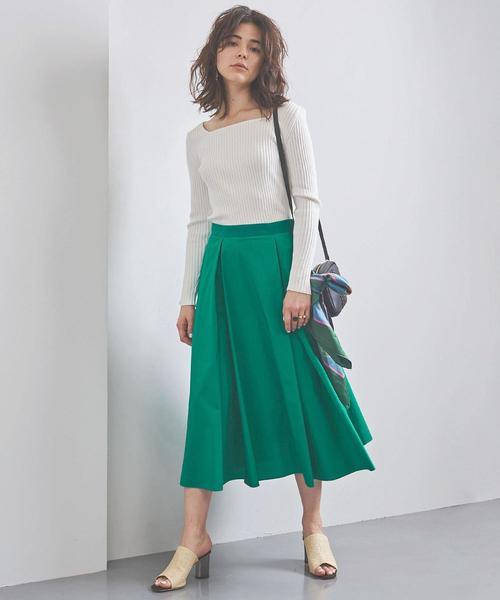 [UNITED ARROWS] UBCB パネルフレア スカート