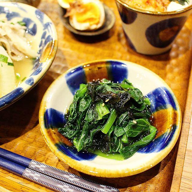 小松菜を使った簡単常備菜13