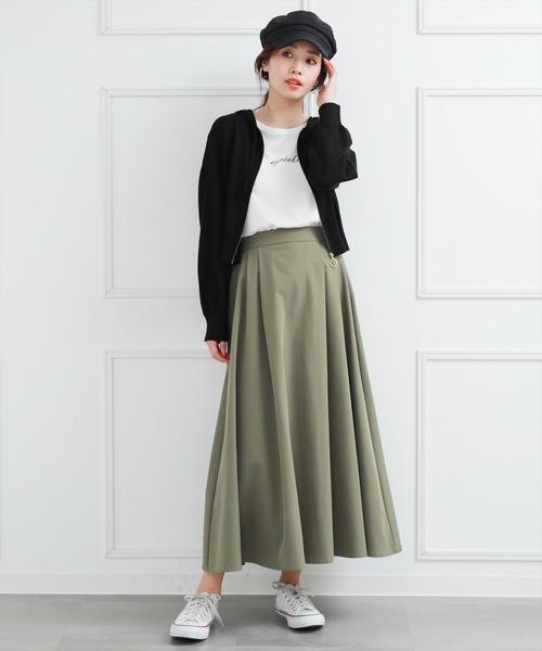 [clear] ≪2020SS新作≫【WEB限定】タックロングスカート/フレアスカート