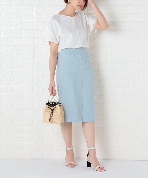 [NOLLEY'S] シェルタリングドライポケットタイトスカート