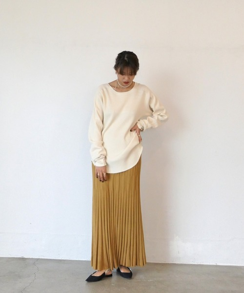 [AKTE] リブニットスカート