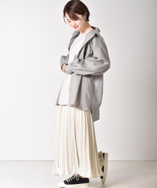 [RETRO GIRL] ビンテージサテンプリーツスカート