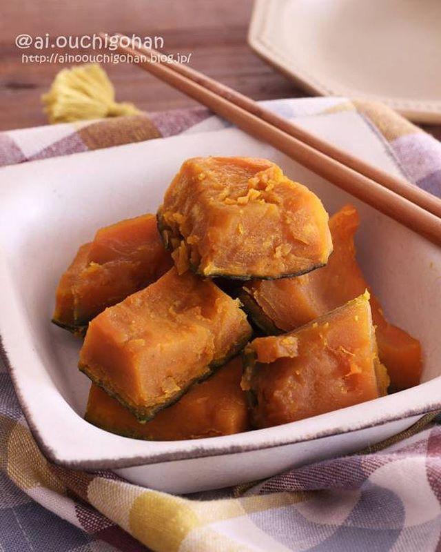 簡単にできる常備菜に!かぼちゃの甘煮