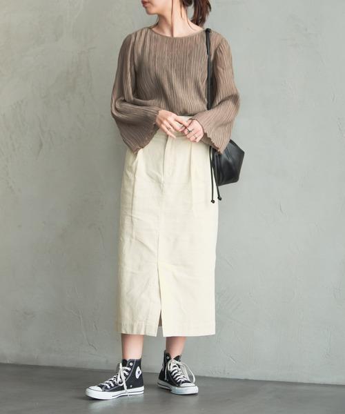 タックタイトスカートの冬コーデ