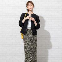 花柄スカートの秋コーデ【2020】幼くならない大人の着こなしを要チェック♪