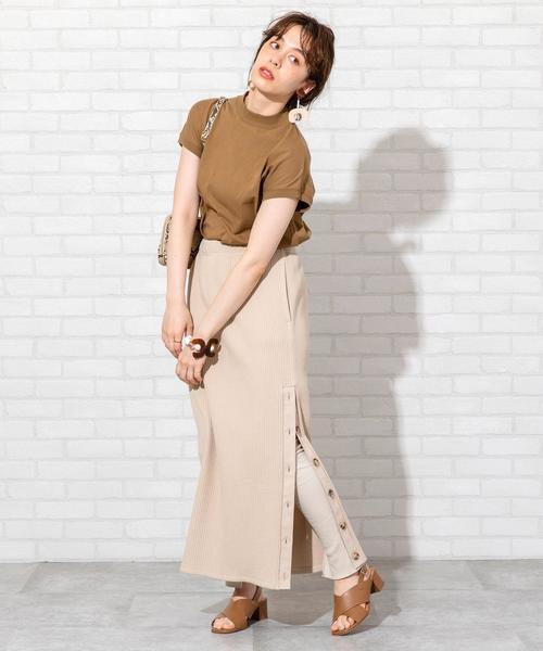 [coen] 【WEB限定 セットアップ対応】ヘビーワッフルサイドボタンスカート#