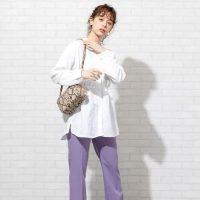 紫パンツコーデ特集【2020最新】パープルに合うトップスで着こなしを格上げ♪