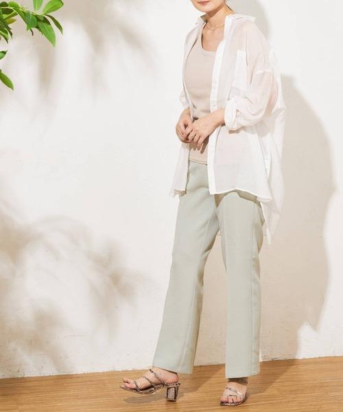 [Discoat] 【ZOZO限定】ビッグシアーシャツ