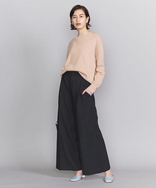 [BEAUTY&YOUTH UNITED ARROWS] BY TRADITIONAL サマーウールタックワイドストレートパンツ