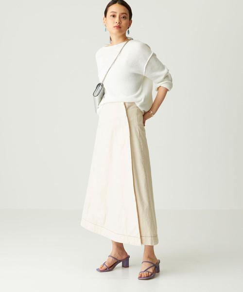 [EMMEL REFINES] Urvin(アービン)×EMMEL REFINES 切り替えラップスカート