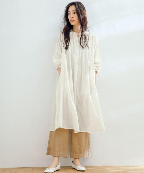 [Ranan] インド綿ギャザーワンピース