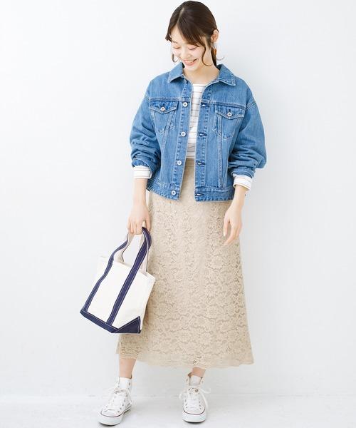 [haco!] シンプルトップスを合わせるだけで華やか! 魅惑の女っぽレーススカート