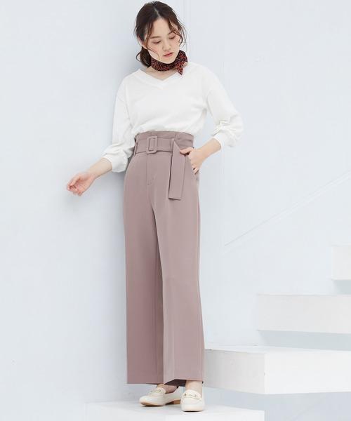 [ViS] 53cm幅カラーレオパード柄スカーフ