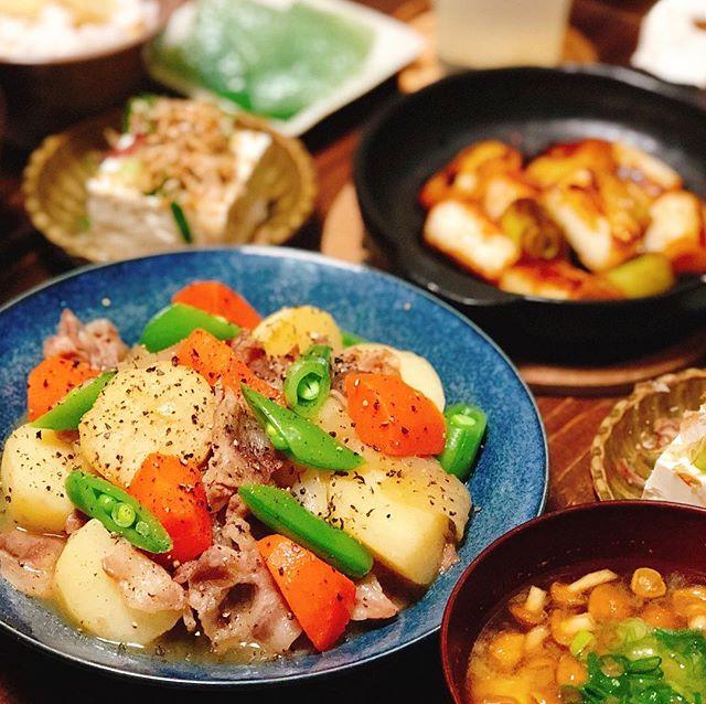 人気の煮物常備菜!塩肉じゃが