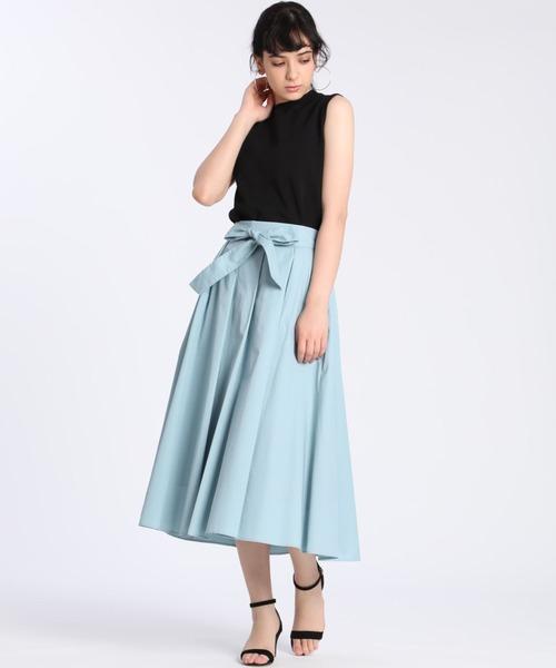[CLEAR IMPRESSION] 《Angouleme》リボンベルトスカート【WEB限定】