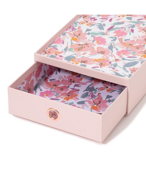 [Francfranc] フロレシア ステーショナリーBOX ピンク